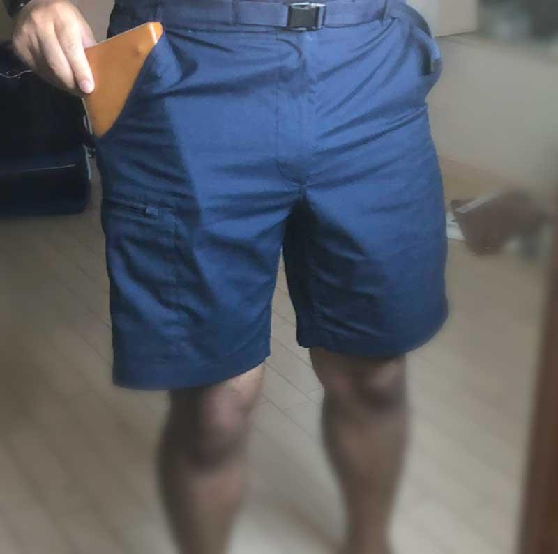 自作カバーのGPDPocketならズボンのポケットにもすっぽり入る