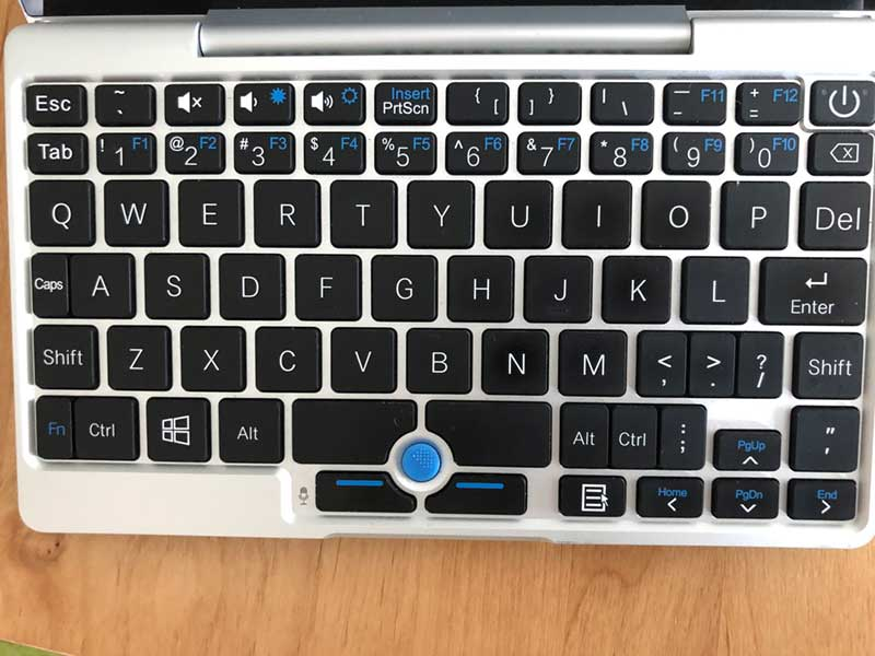 GPDpocketのキーボード配列