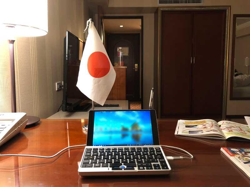 台湾のホテルで仕事