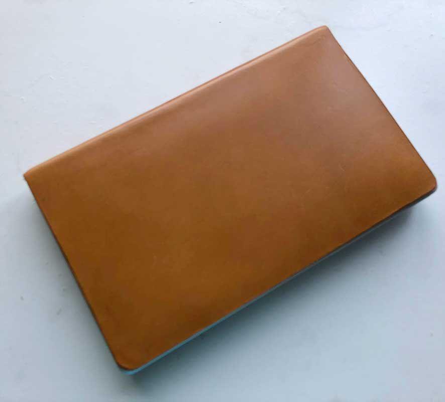 自作のGPD Pocketのレザーカバー