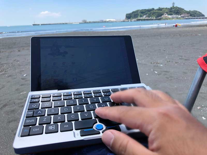 海でGPD Pocket