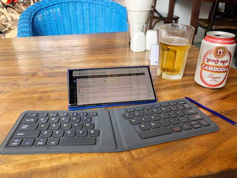 カンボジアビールとモブログ