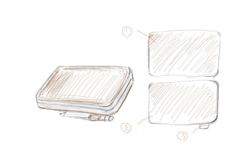 OneMix2sのオリジナルカバーのデザイン画