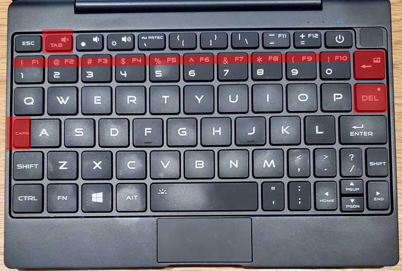 この部分がどうしても慣れないMAG1のキーボード