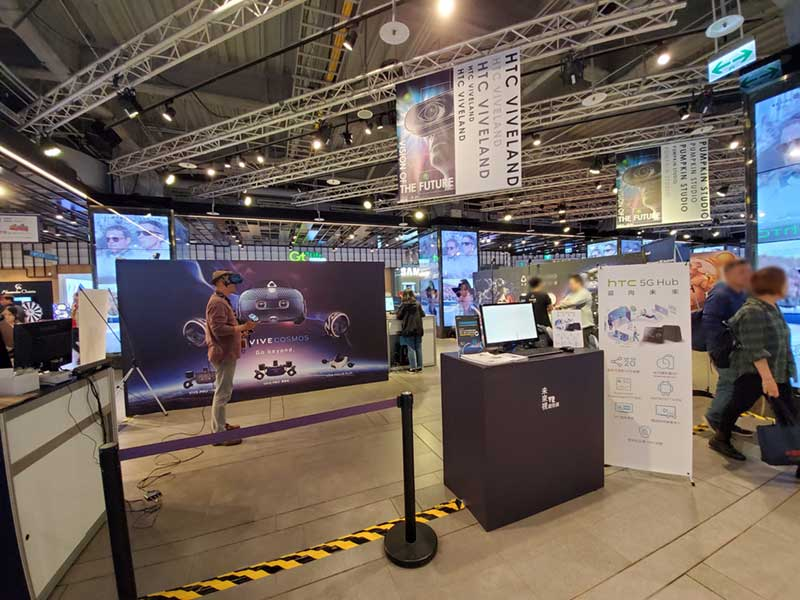VIVE VRの体験コーナー