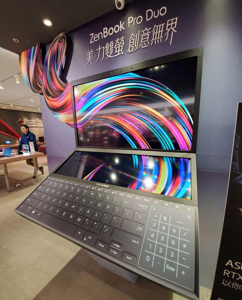 2画面PCのASUS ZenBookDuo