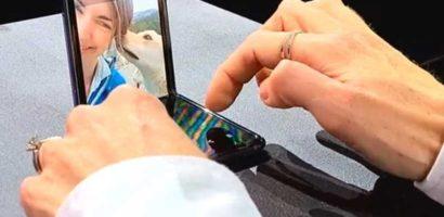【Galaxy Z Flip】コンパクトミラーなタテ型折り畳みが女性向け!セルフィー特化のFLEX MODEが良さそう!