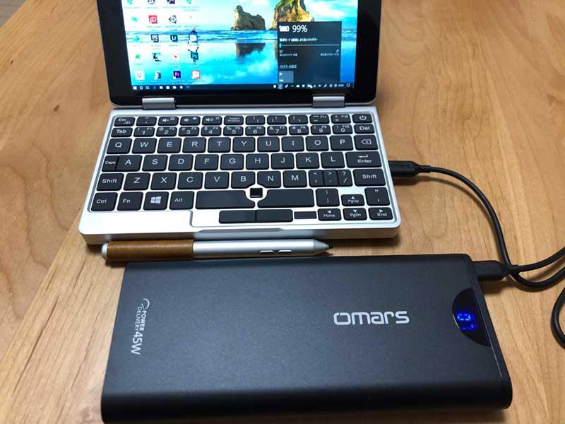 OneMix2sを無事に充電できました
