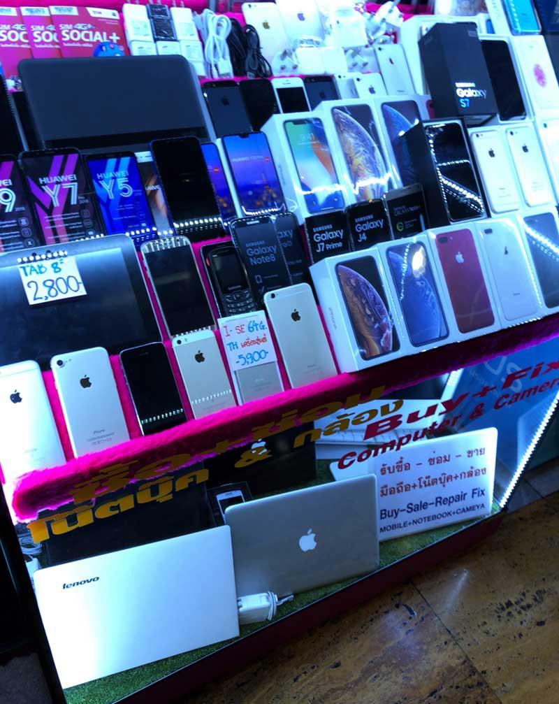 iPhoneも中古品がたくさんある