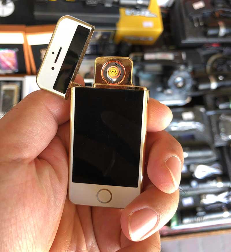 超小型のiPhone型の電子ライターでした