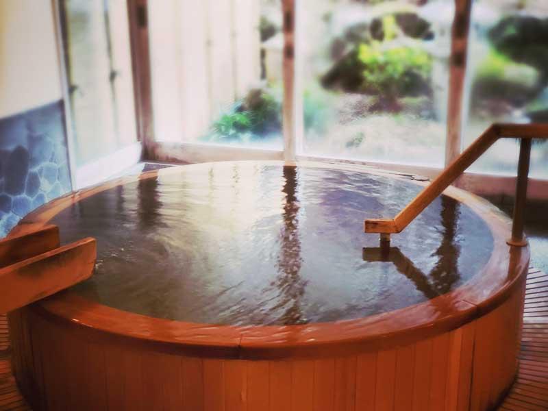 旅行先の天然温泉