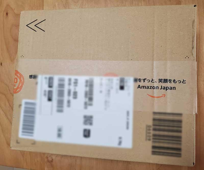Amazonの箱で来たけど