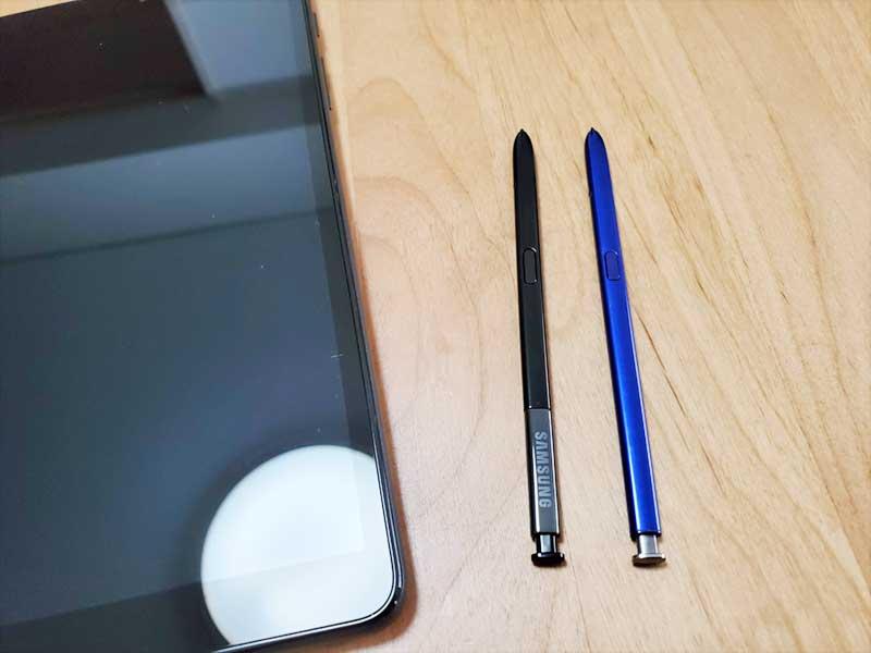 サイズはGalaxynote10+のSペンと同じ