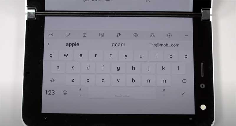 下画面いっぱいにキーボード