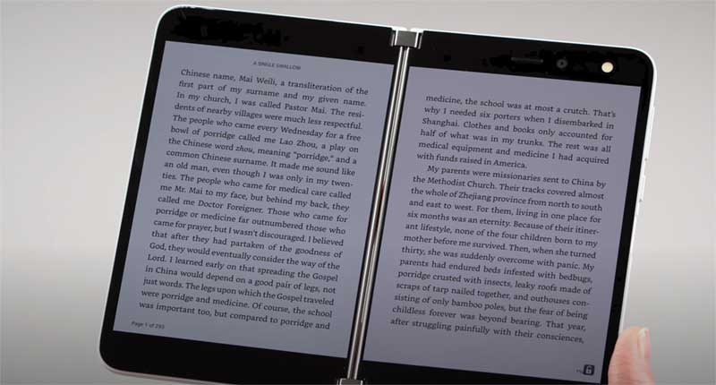 Kindleも見開き表示で見やすい