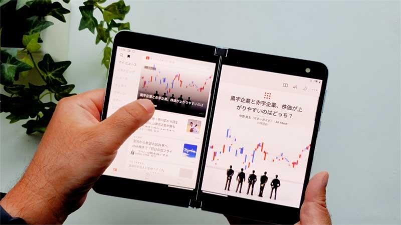 純正のNewsアプリは2画面に完全対応
