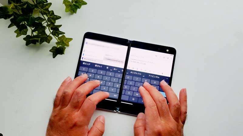 多種多様なSurface Duoのキーボードレイアウト